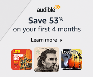Advertisement - Save on Audible on your first 4 months