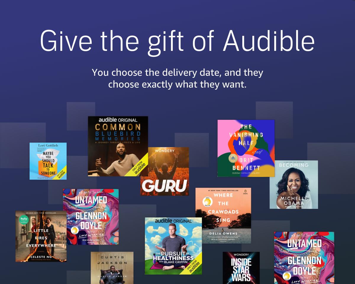 Advertisement - Give the gift of Audible on Amazon