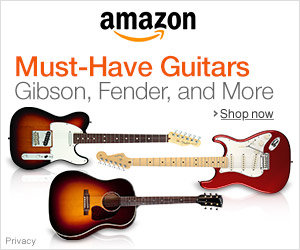 Advertisement - Must-have guitars on Amazon
