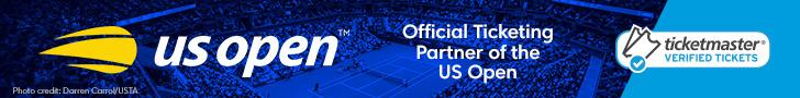Advertisement - Get US Open tickets on Ticketmaster