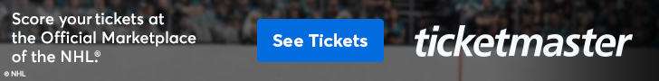 Ad: Score your tickets at Ticketmaster - the Official Marketplace of the NHL.