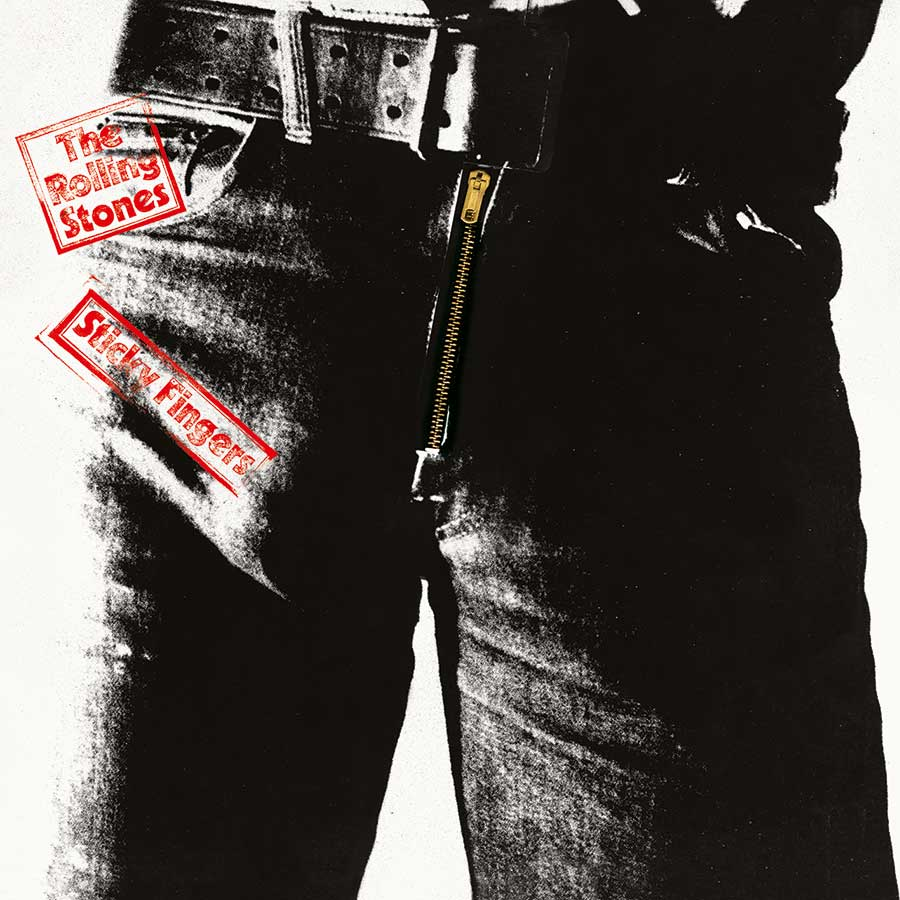 Cover artwork for the Rolling Stones' Sticky Fingers album