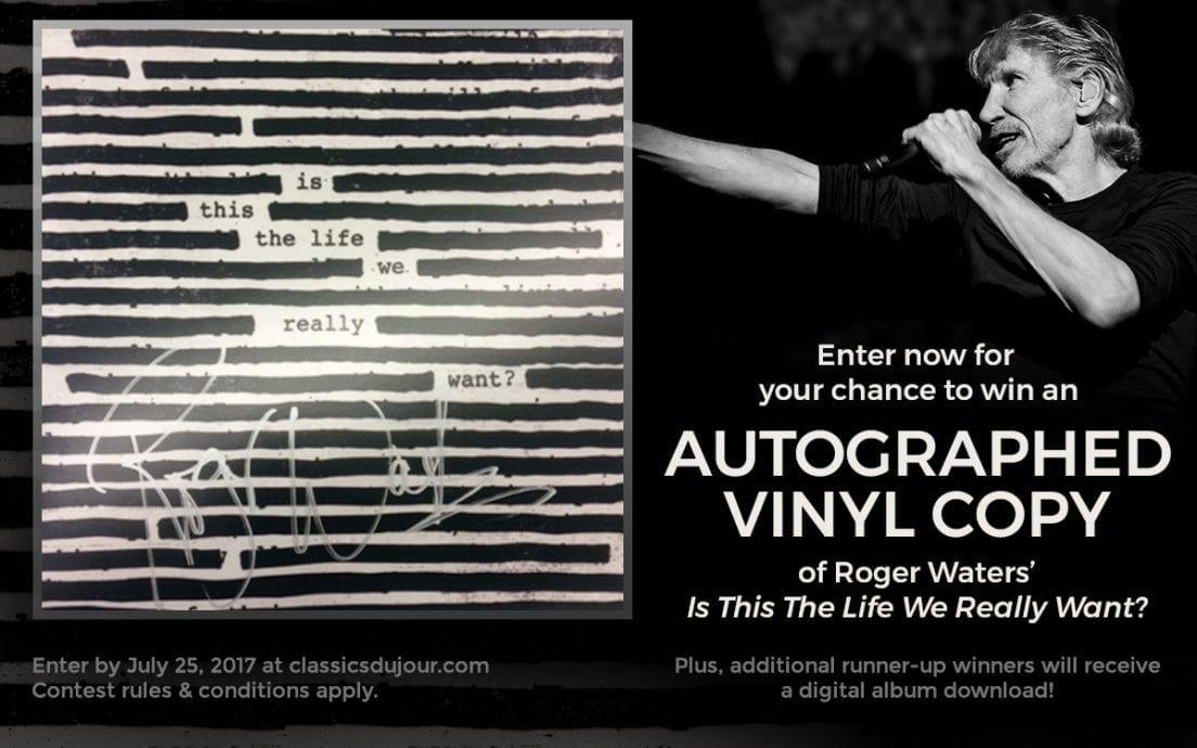Roger Waters autographed vinyl contest