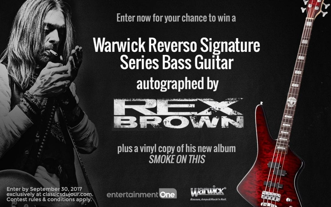 Enter for your chance to win a Warwick Bass Guitar, signed