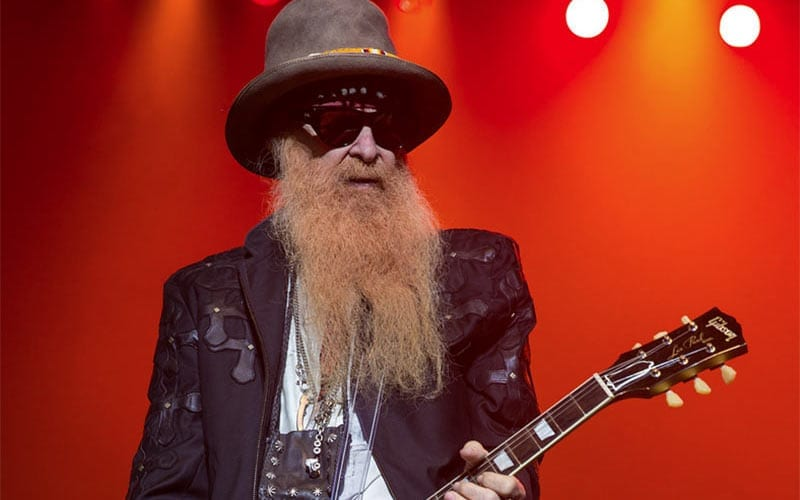 Billy Gibbons of southern rock band ZZ Top