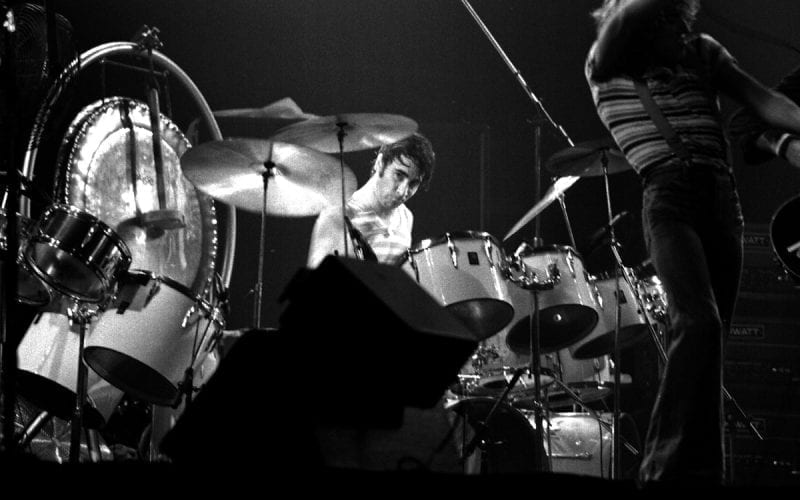Keith Moon at Maple Leaf Fardens in October 1976