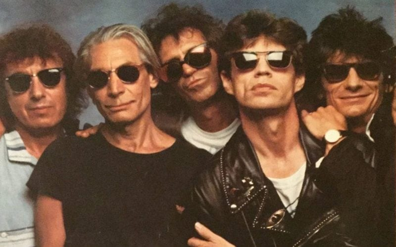 The Rolling Stones in a promo image for the Steel Wheels tour