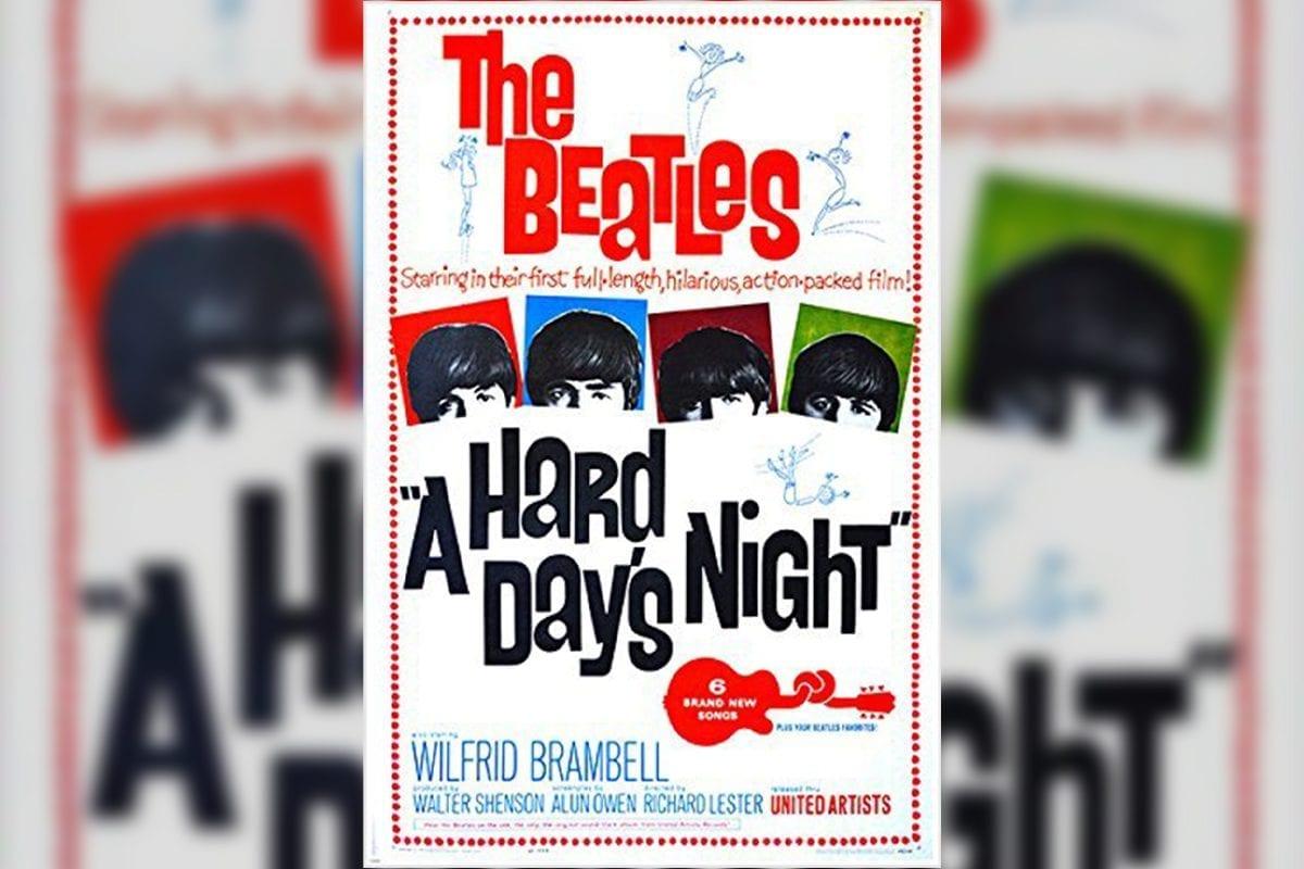Beatles Hard Day's Night film poster