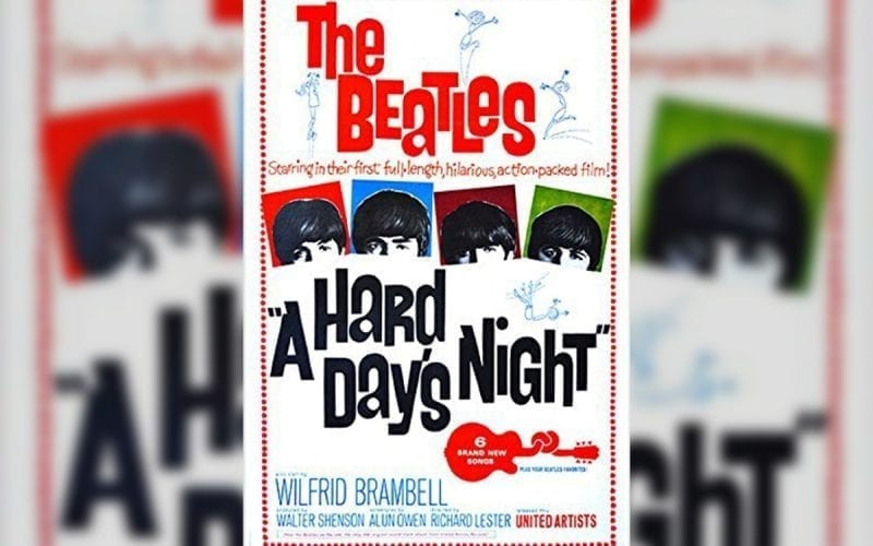 Beatles Hard Day's Night film poster