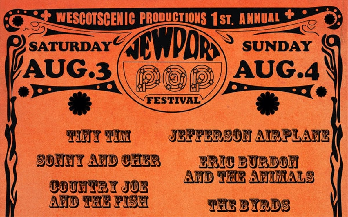 Promotional poster for the 1968 Newport Pop Festival