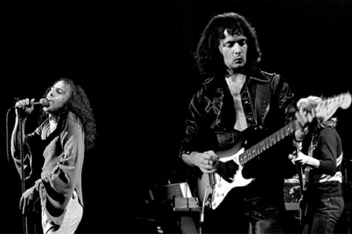 Ronnie James Dio and Richie Blackmore of Rainbow