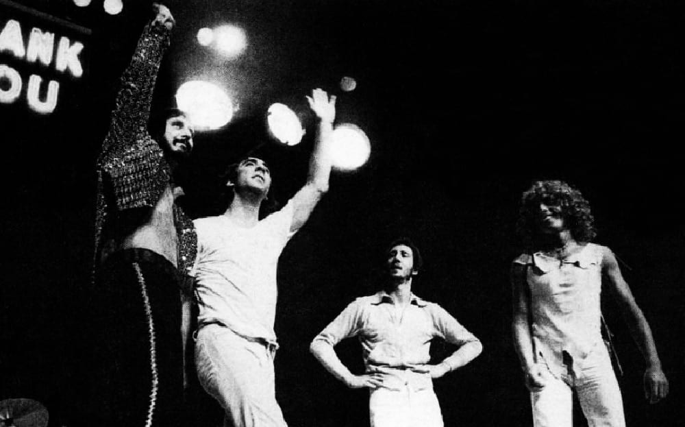 Classic rock band The Who in 1974