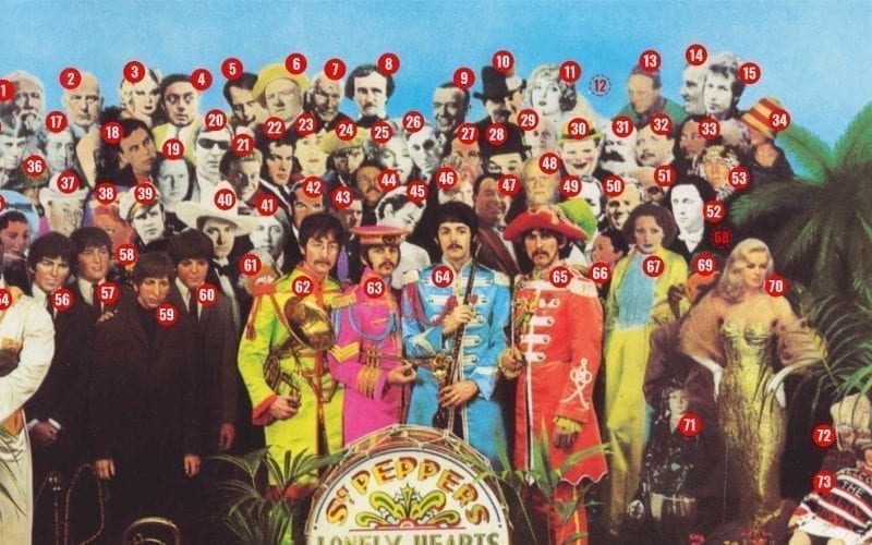 Sgt. Pepper album cover by the numbers