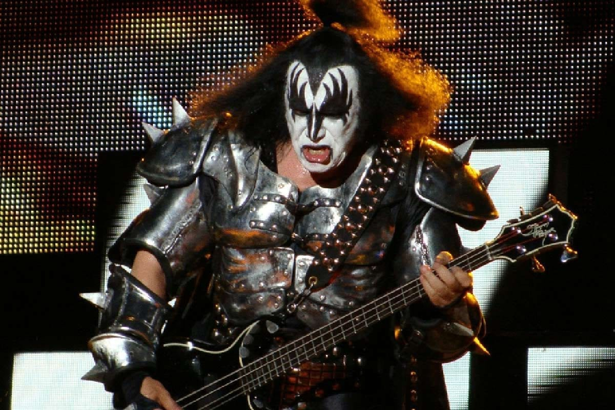 Gene Simmons performing with Kiss at the Azkena Rock Festival in 2010