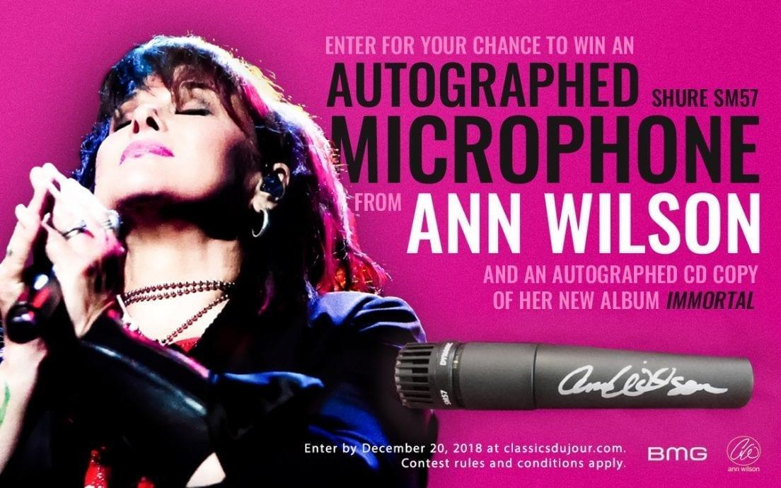 Ann Wilson microphone contest