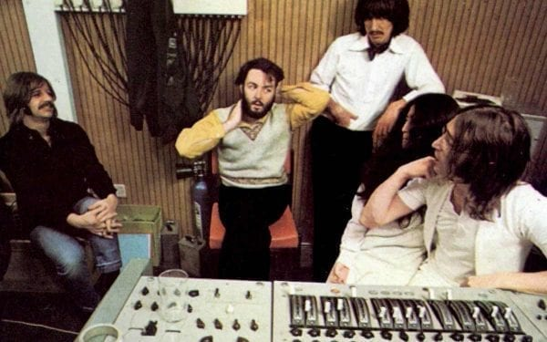 The Beatles in studio in 1969