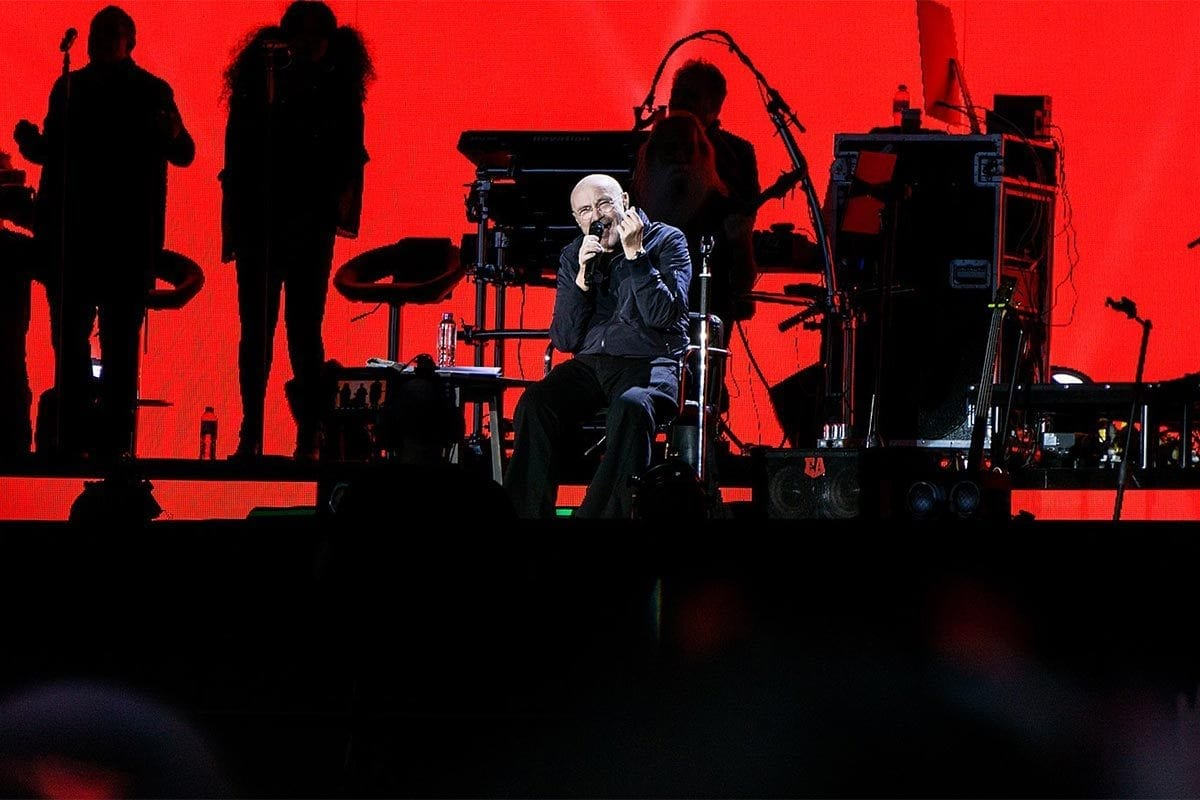 Phil Collins in Hyde Park in 2017