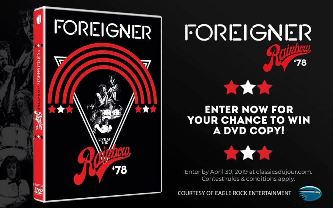 Foreigner Live at the Rainbow '78 contest