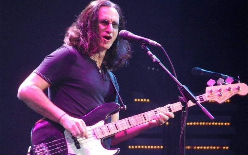 Geddy Lee performing with Rush in 2008