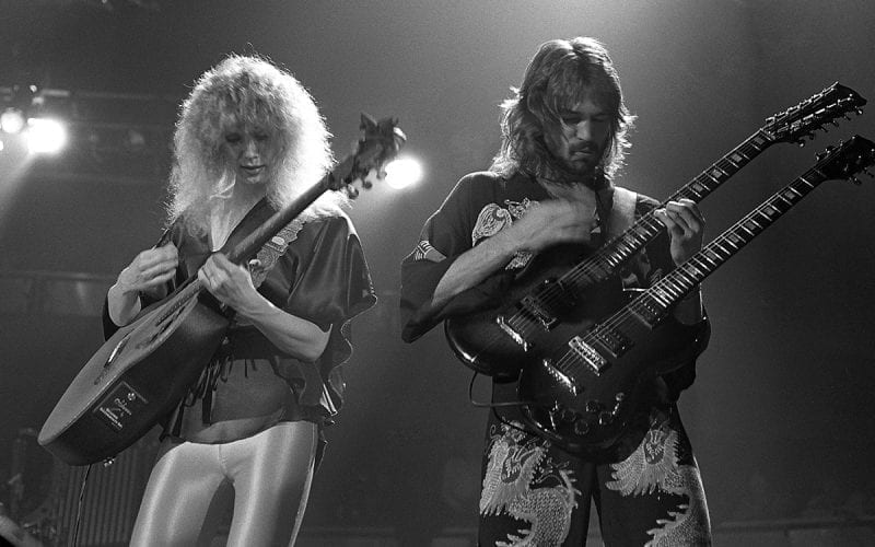 Nancy Wilson and Roger Fisher of Heart in 1978