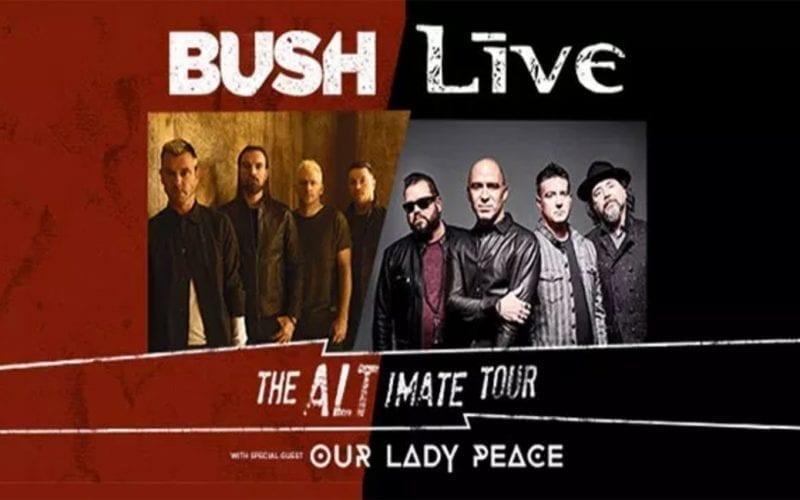 Bush Live Altimate tour poster