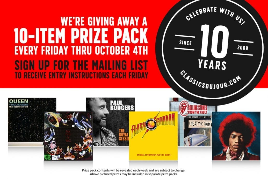 Classic rock prize pack contest