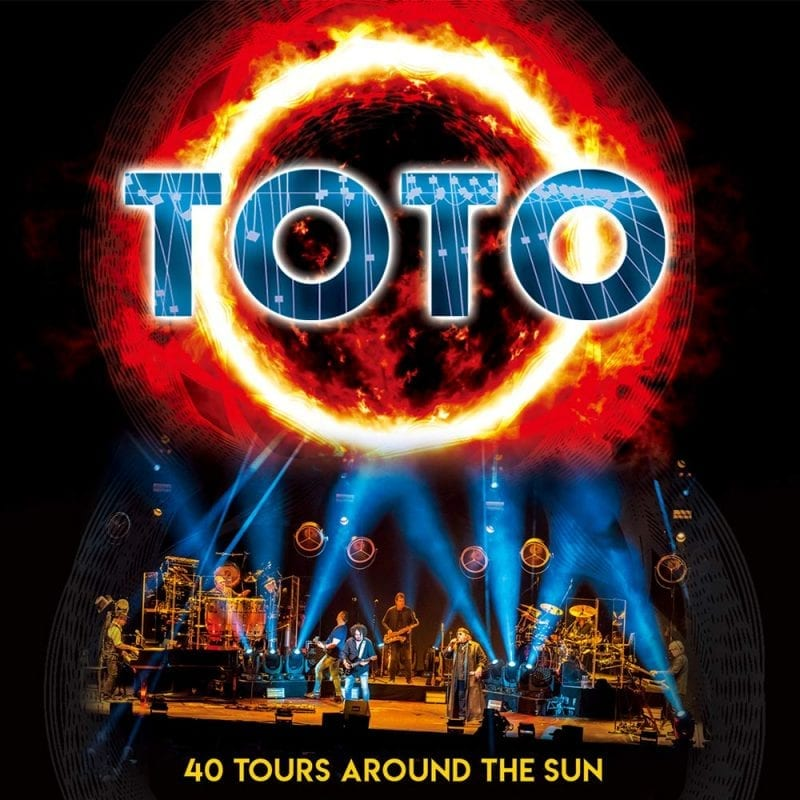 Toto 40 Tours Around the Sun cover