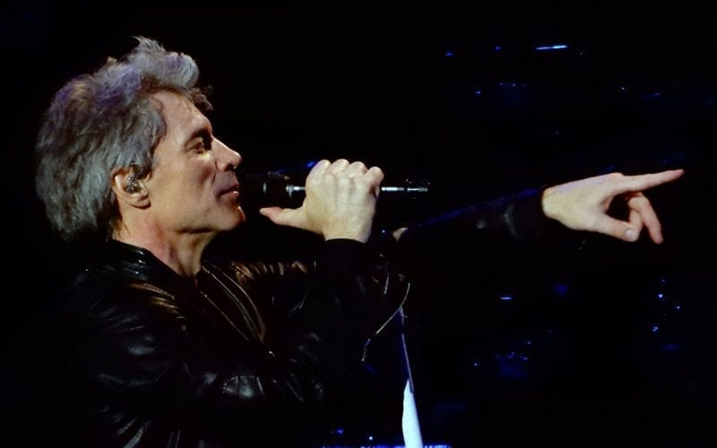 Jon Bon Jovi performing in New York in 2017