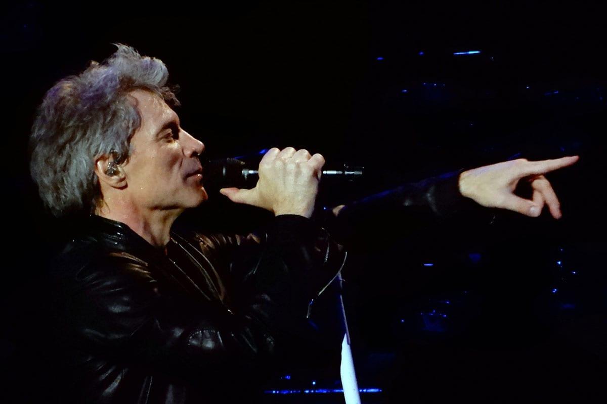 Jon Bon Jovi performing in New York in 2017