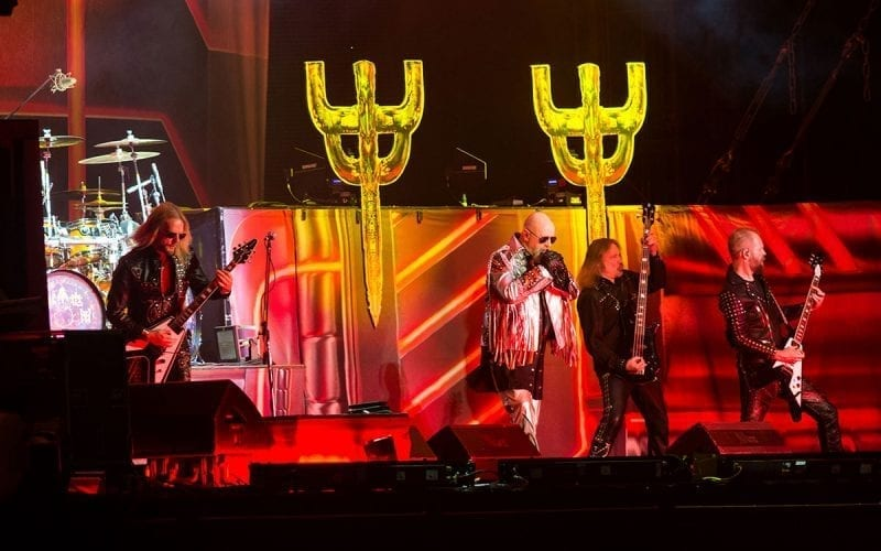 Judas Priest on stage in 2018