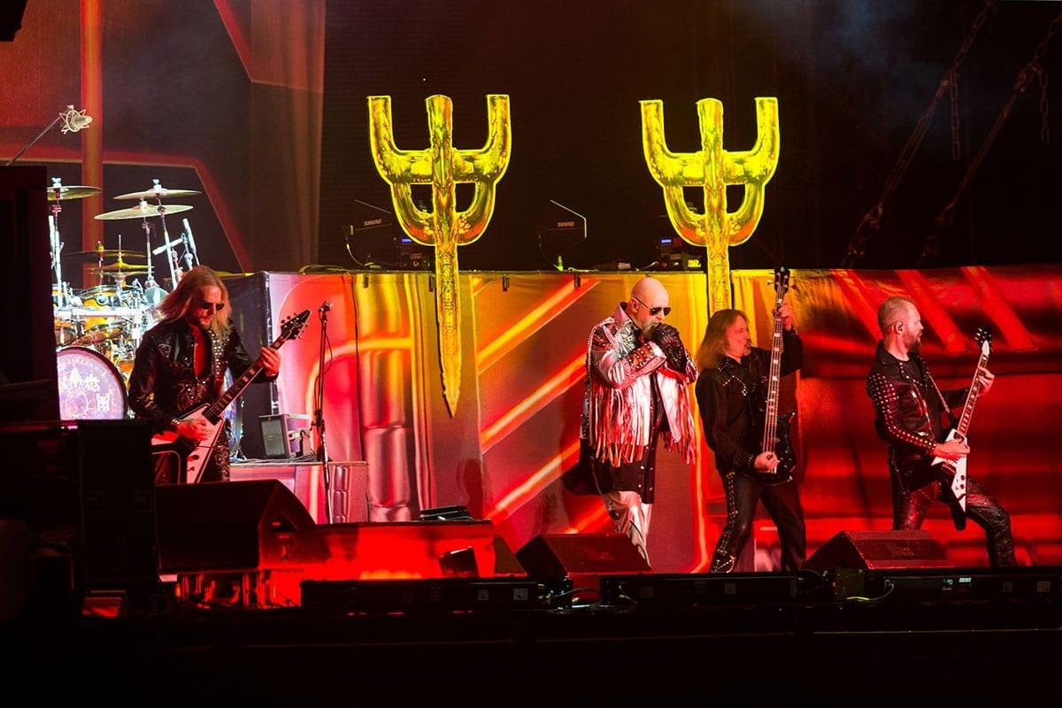 Judas Priest on stage in 2018
