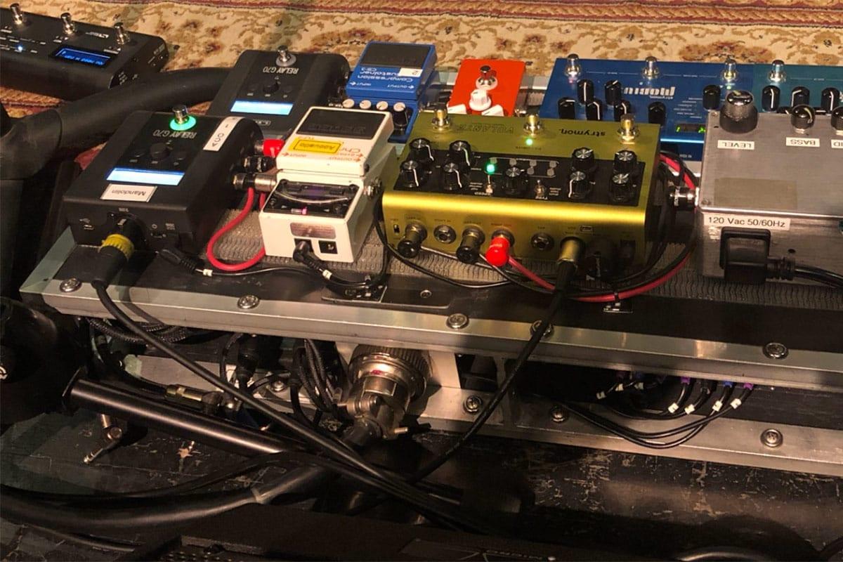 Jim Messina pedal board set up