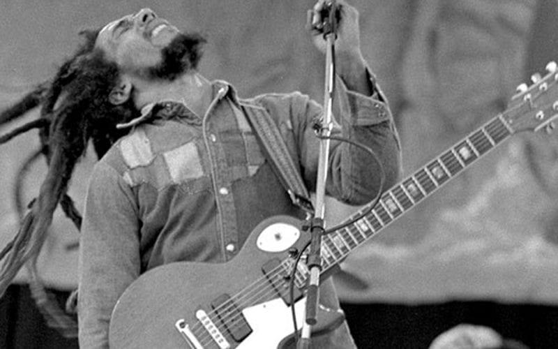 Bob Marley performing in 1980