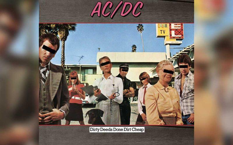 AC/DC Dirty Deeds Done Dirt Cheap album cover