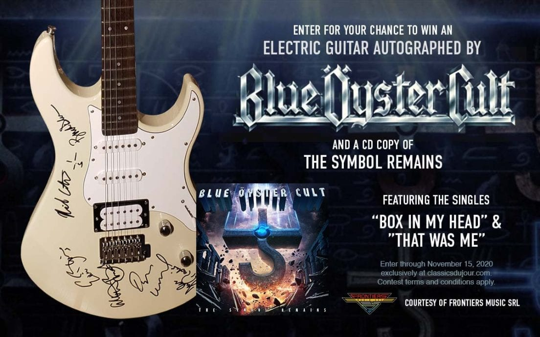 Blue Oyster Cult guitar giveaway