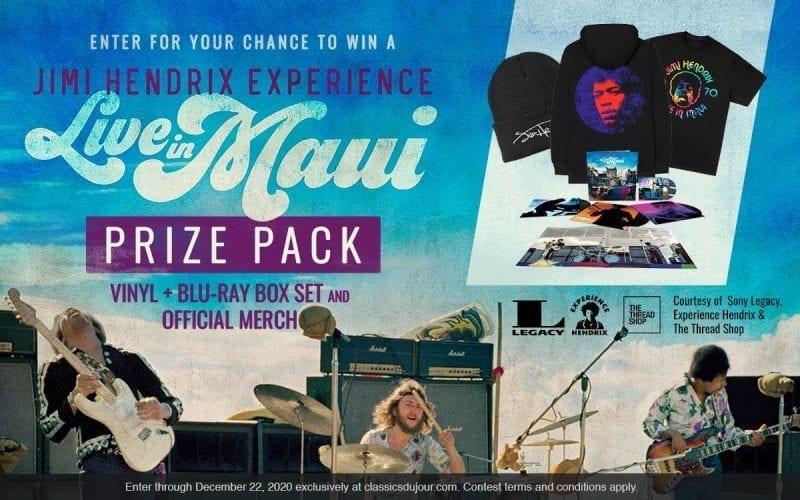 Jimi Hendrix Live in Maui vinyl prize pack