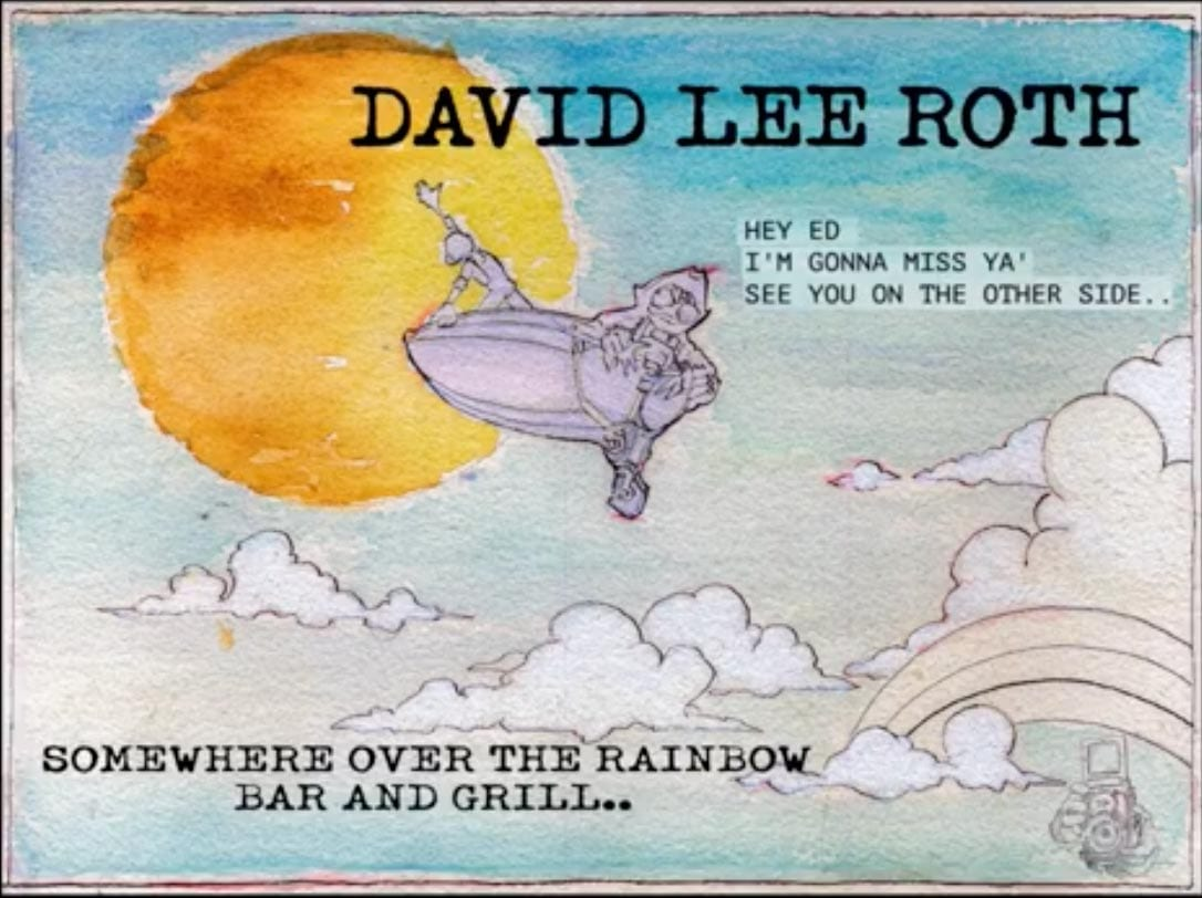 David Lee Roth Somewhere Ove the Rainbow Bar and Grill
