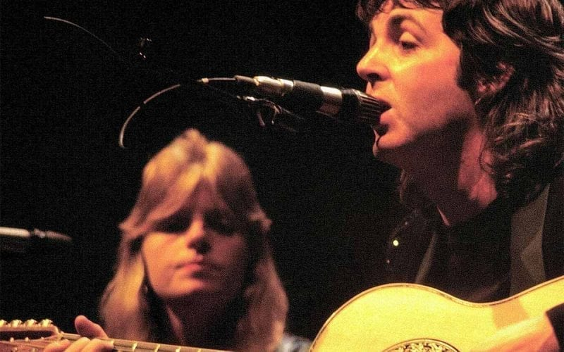 Paul and Linda McCartney in 1976