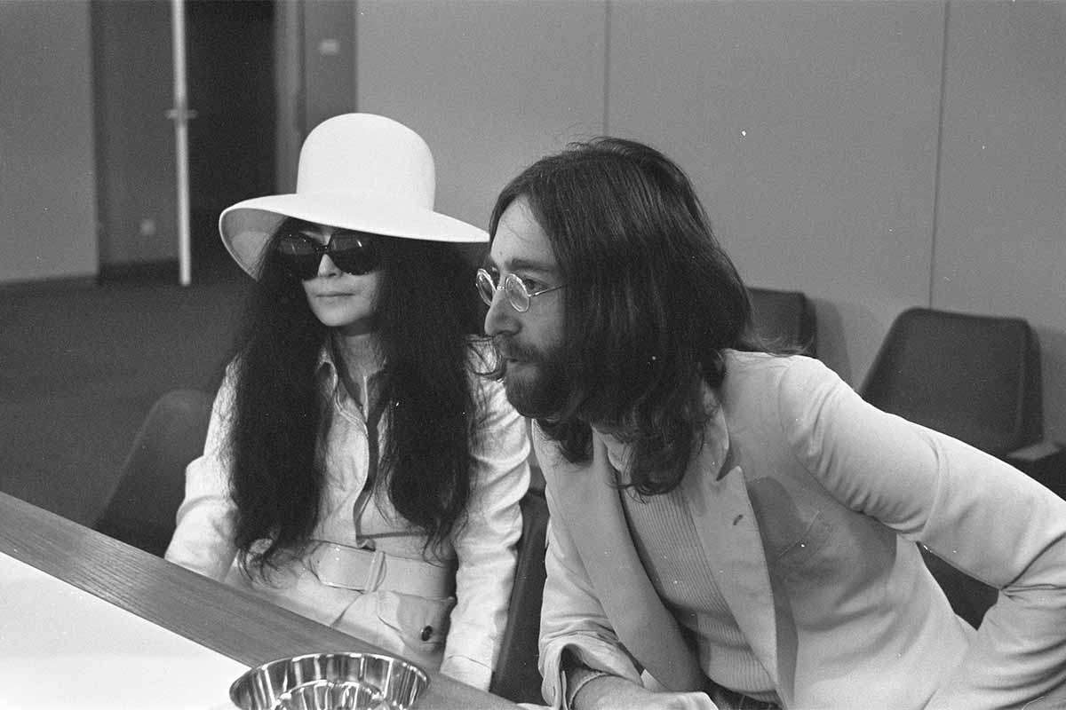 Yoko Ono and John Lennon in 1969