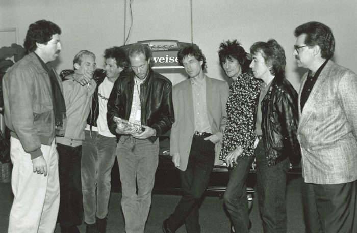 Paul Rappaport with the Rolling Stones