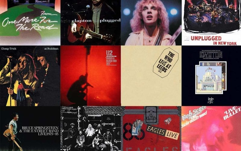 Most influential live classic rock albums