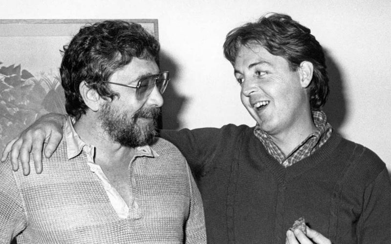 Walter Yetnikoff with Paul McCartney