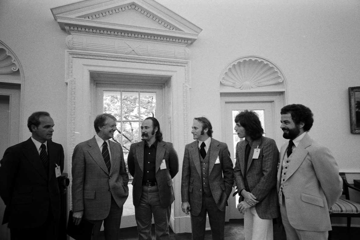 Jimmy Carter with Crosby, Stills and Nash