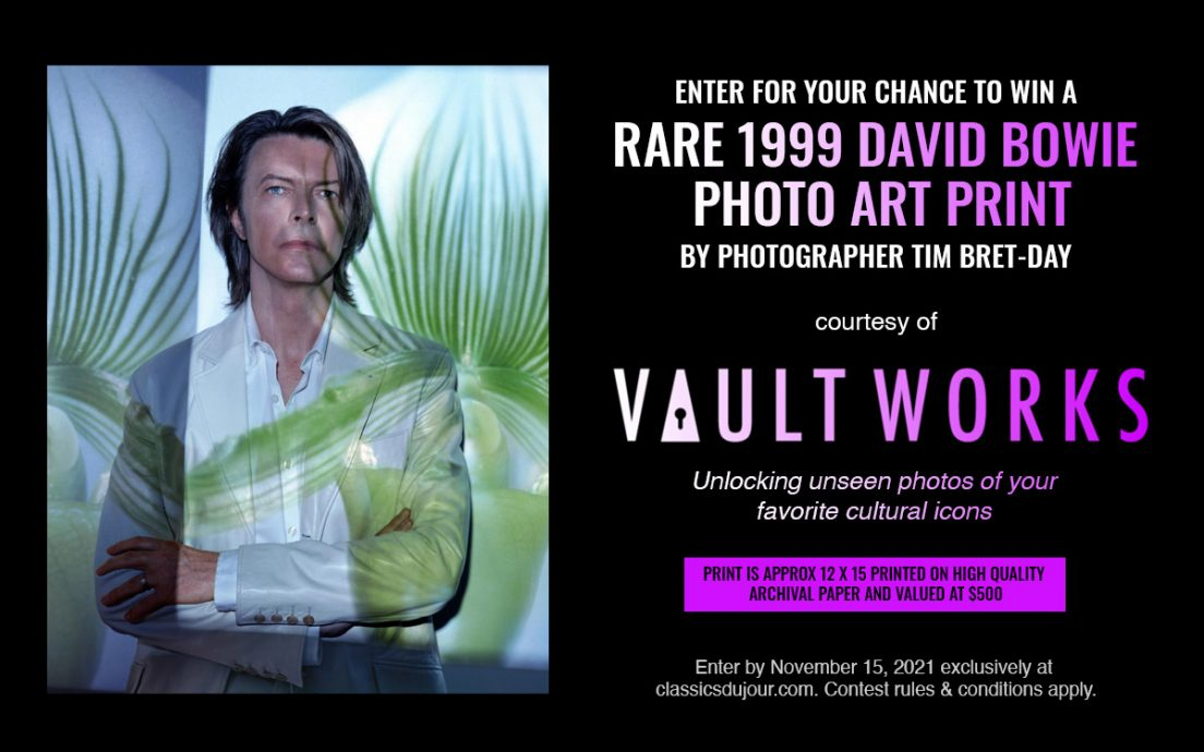 David Bowie photo art print giveaway
